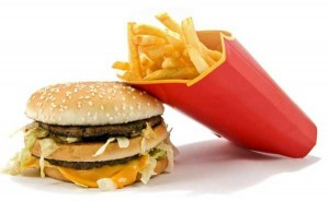 fast food κακής ποιότητας θερμίδες